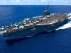 The Carl Vinson sailing at sea. US Navy photograph