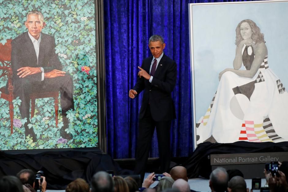 Barack and Michelle Obama Artworks Unveiled at National Portrait Gallery