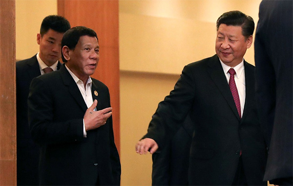 President Duterte and Chinese President Xi Jinping