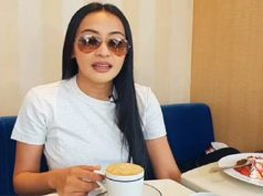 Mocha Uson drinking coffee