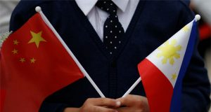 Philippines, China flags