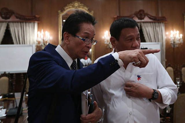 Salvador Panelo and Rodrigo Duterte