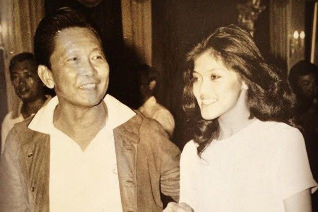 Imee Marcos with her father