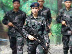 Sofia Deliu in combat uniform