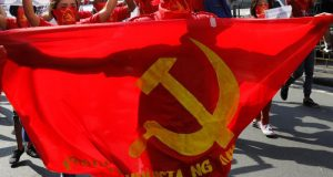 Communist flag in the Philippines