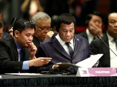 Philippines' President Rodrigo Duterte attends the ASEAN-China Summit in Singapore