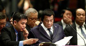Philippines' President Rodrigo Duterte attends the ASEAN-China Summit in Singapore