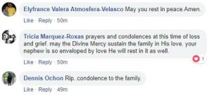 Condolences to De Guzman family