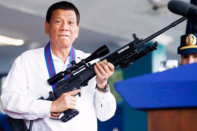 Duterte with a sniper