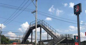 Finished elevated footbridge