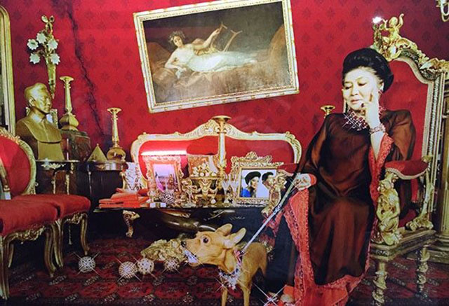 Imelda Marcos surrounded by wealth