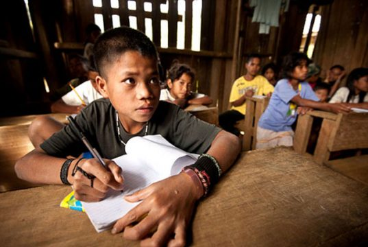 Indigenous youth in classroom