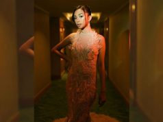 Maymay Entrata wearing a gown