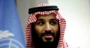 Saudi Arabia's Crown Prince Mohammed bin Salman Al Saud meets U.N. Secretary-General Guterres in New York