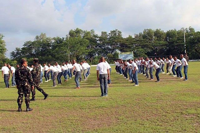 Students in an ROTC program