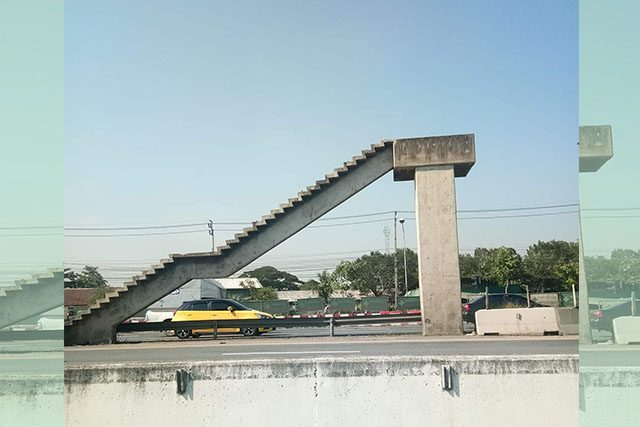 Unfinished overpass