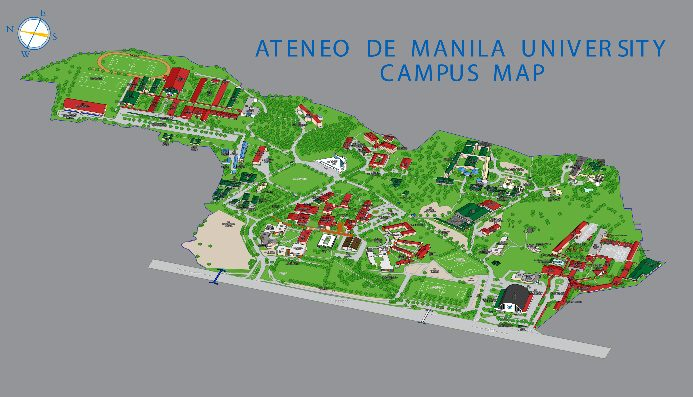 ateneo de manila campus map Rape On Campus Ateneo De Manila University Opens Probe ateneo de manila campus map