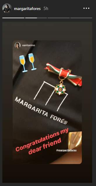 Margarita Fores' medal