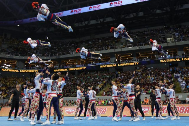The winning NU Pep Squad routine