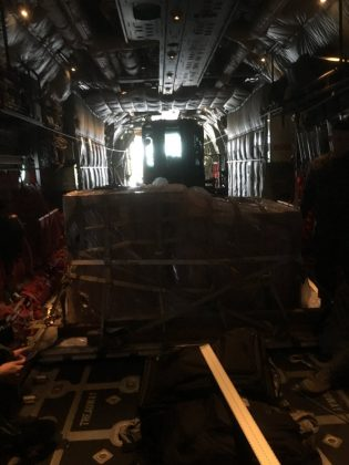 Balangiga Bells on a US C-130