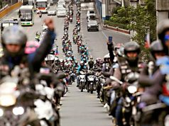 Angkas riders in protest