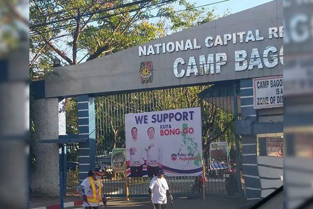 Bong Go's tarp in PNP_Interaksyon