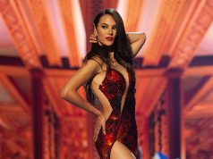 Catriona Gray flaunting her evening gown at Miss Universe 2018
