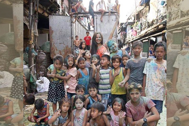 Catriona Gray in Tondo, Manila