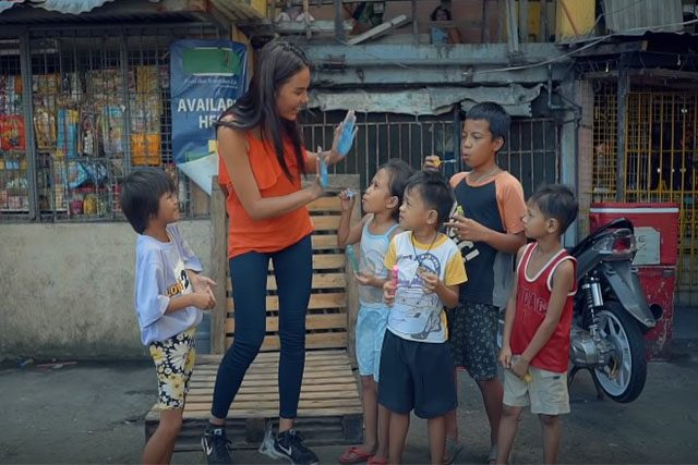 Catriona Gray with children