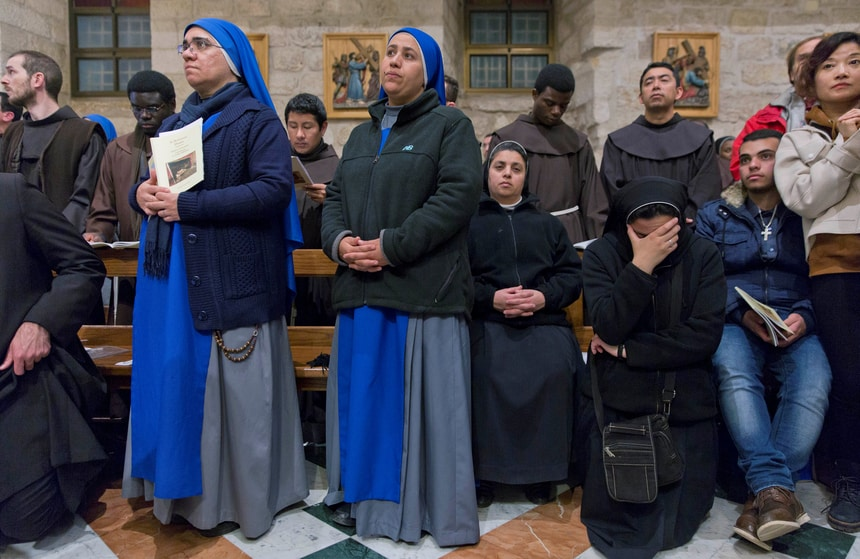 Christmas celebrations Bethlehem West Bank