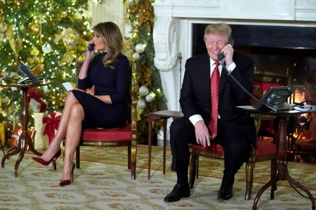 Donald Trump answers calls from kids about Santa Claus Christmas