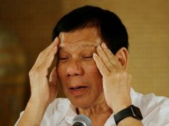 Duterte gestures with hands