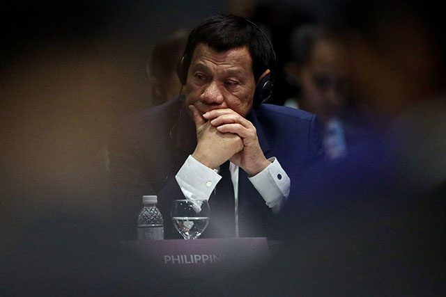 Philippines President Duterte attends the ASEAN Plus Three Summit in Singapore