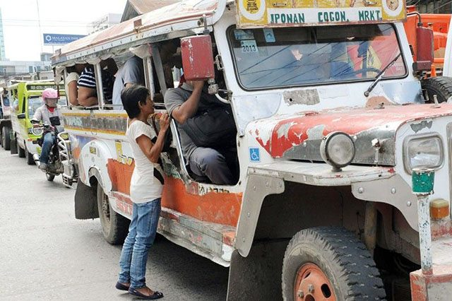 Jeepney in the street