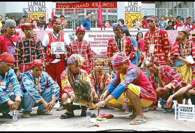 Lumad protesters