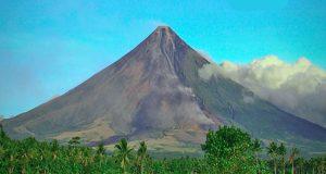 Mayon Volcano in still form