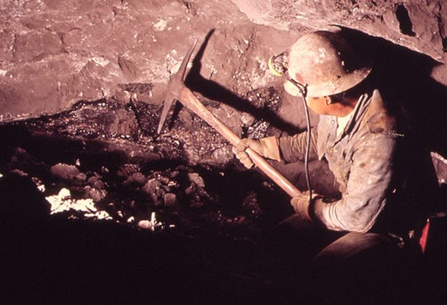 Miner in a cave