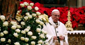 Pope Francis Christmas message shun materialism remember poor