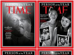 Combination image of TIME's Person of the Year 2018 covers