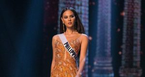 Catriona Gray in evening gown