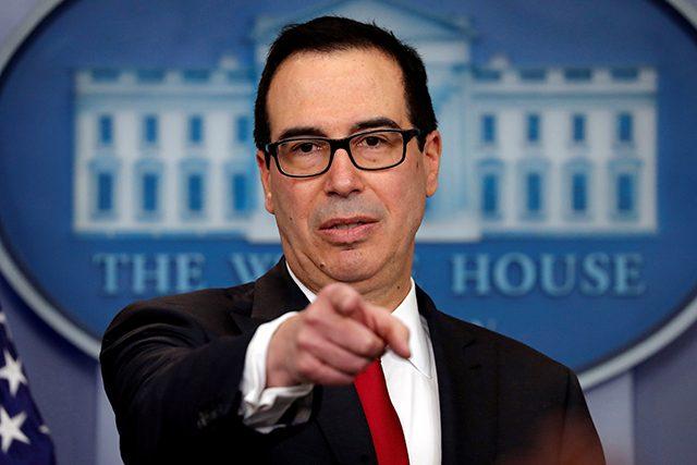 FILE PHOTO: U.S. Treasury Secretary Mnuchin attends the daily briefing at the White House in Washington