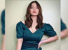 Angel Locsin in a dress