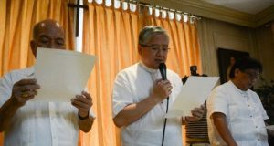 CBCP reading a statement