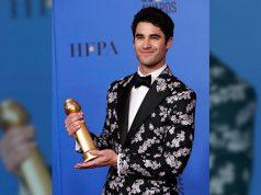 Darren Criss at Golden Globes Awards