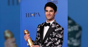 Darren Criss at Golden Globes Awards