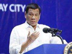 Duterte speaking to barangay chiefs