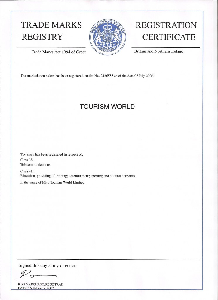 Tourism World Registry