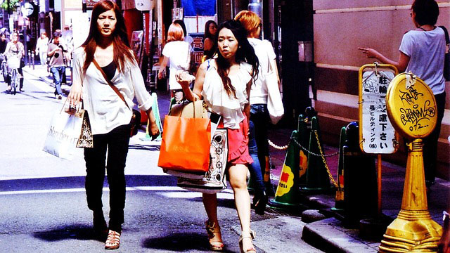 Women walking in Japan