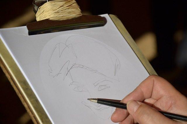 Artist sketching a figure