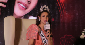 Catriona Gray in her homecoming press con